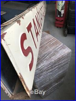 10 Standard Oil Products Double Sided Porcelain Strip Sign