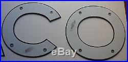 1930's TEXACO Porcelain Letters 8 inch New Old Stock Used on Gasoline Truck