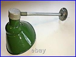 1940's Goodrich 13 X 11 Green Porcelain Sign Light Industrial Gas Station VTG