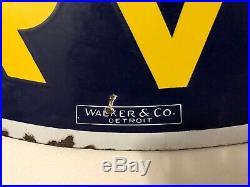 1940's Original Super Service CHEVROLET Porcelain Dealership Sign