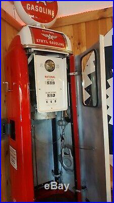 1948 National A62 Gas Pump. Pro Resto. Porcelain Pump. Flying A