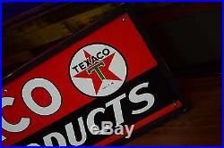 1949 Texaco Marine Fuel Porcelain Gas Oil Sign AMAZING Investment Condition 9.6