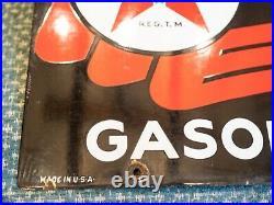 1952 Texaco Sky Chief Porcelain Metal Gas Pump Plate