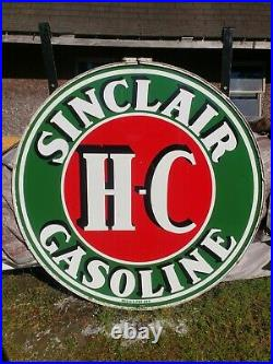 1956 Sinclair Sign and Pole! 6ft Sign In Ring! Porcelain sign