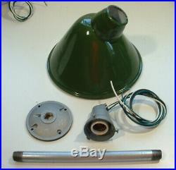 1 1950s 10 Green Porcelain Sign Light Benjamin Industrial Gas Station Angle VTG