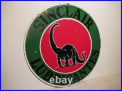 22 Super rare Authentic 1930 DSP Sinclair Lubrication Porcelain Gas Co. Sign