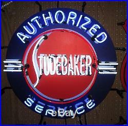 24x24 Studebaker Authorized Service Us Auto Dealship Real Neon Sign Light