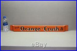 31 Orange Crush Soda Crushy Porcelain Door Push Bar Sign Gas Oil Car Farm