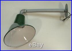 4- 1940's 8 Green Porcelain Sign Light Benjamin Industrial Gas Station VTG A's