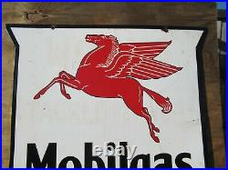 4ft. 48 authentic DSP org. 1920 Mobil Pegasus Gas & Oil Co. Porcelain Sign