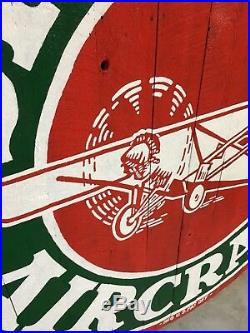 6 Foot Sinclair Aircraft Sign Painting Barnboard HC No Porcelain Opaline Gas Oil