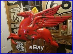 Antique 48 Porcelain Bubble Mobil Pegasus Horse Original 3D Peggy Gas Oil Sign