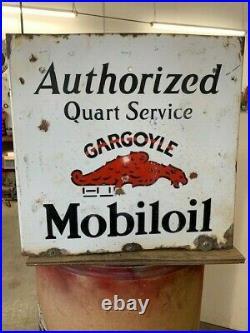 Antique Porcelain Mobil Oil Gargoyle Advertising oil bottel holder