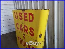 Antique porcelain A one (Used Cars), Ford Dealer Sign Make A Great Table