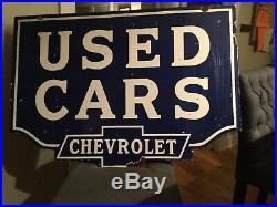 Chevrolet Used Car Porcelain Sign