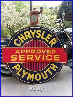 Chrysler plymouth porcelain sign