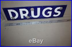 Drugs Store Porcelain Metal Neon Sign Skin Rx Rexall Doctor Medicine Gas Oil 66