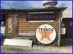 Firestone one sided porcelain sign