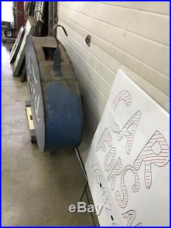 Ford Milkglass Sign, Not Porcelain, Gas And Oil, Chevrolet And Ford
