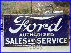 Ford porcelain sign 6ftx4ft large and in charge gaurenteed original