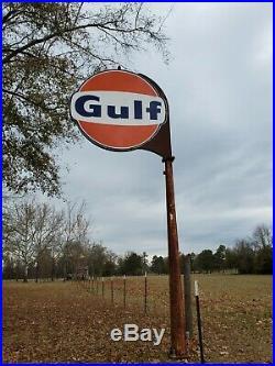 GULF porcelain gas sign