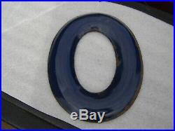 Gas station letters porcelain letter sign service station esso