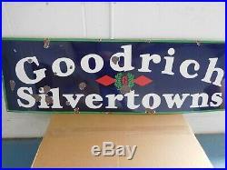 Goodrich Silvertowns Porcelain Sign