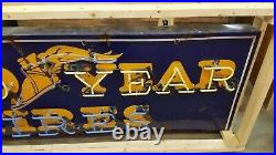 Goodyear porcelain Neon Sign gas oil vintage Collectable Mancave garage