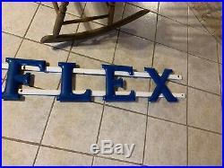 Gulf Gas Station GULFLEX Lube Bay Sign Blue porcelain 1940s 50s original