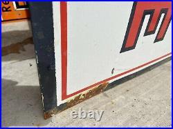 Huge 60 X 24 Socony Gasoline Porcelain Sign Clean Gas & Oil Garage Shop
