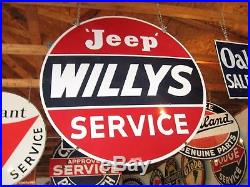 Jeep / Willys 2 Sided 42 Porcelain Sign