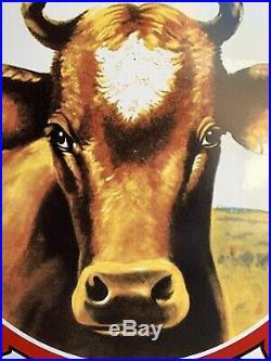 Large H M HOOD & Sons Milk Enamel Porcelain Oil Sign
