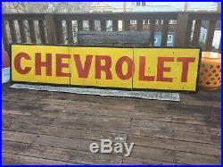 Large Original Chevrolet Dealer Porcelain Sign