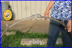 Large Ring Hanging Bracket For 30 Gas Oil Soda Pop 2 Sided Porcelain Metal Sign