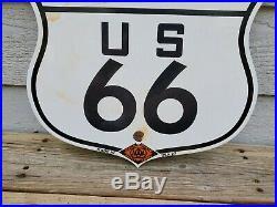 Large Vintage 1927 State Of California Route 66 Porcelain Enamel Road Sign