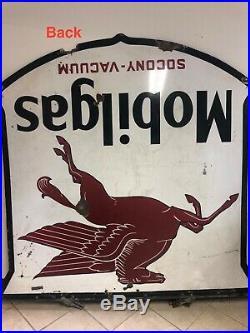 Mobilgas with Pegasus Socony-Vacuum Porcelain Sign