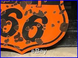 ORIGINAL Vintage PHILLIPS 66 PORCELAIN 29 Sign Gas Oil VERIBRITE DSP Patina OLD