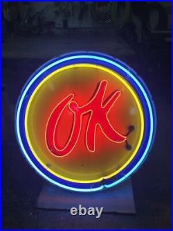 Ok Used Cars Porcelain Neon