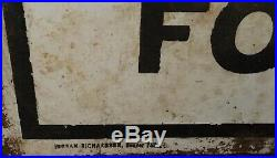 Old Gulf Flanged Double Sided Porcelain Advertising Sign