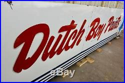 Original 1950's Porcelain Dutch Boy Paints Advertising Sign Off a Building Wow