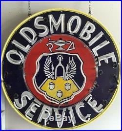 Original 42 Oldsmobile Porcelain Neon Car sign working Single sided Dealership