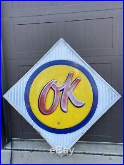 Original CHEVROLET Dealership OK Used Car Sign Not Porcelain
