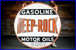 Original Deep Rock Motor Oils Porcelain Sign