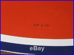 Original Gulf Porcelain Sign 6foot Singled Sided Dated 3-1973
