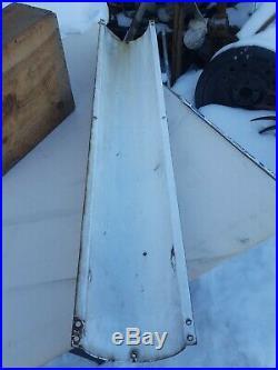 Original Marvys Barber Shop Pole 48 Curved Porcelain Metal Sign