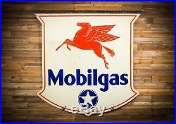 Original Mobilgas White Star Porcelain Gas Oil Sign