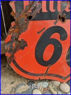 Original Phillips 66 Porcelain Double Sided Sign 30. SPS 55 vintage gas & oil