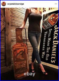 Original Wood Copper Goose Bar Advertising Sign
