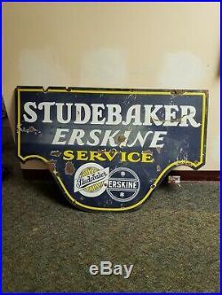 Original studebaker erskine service porcelain sign