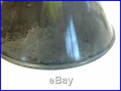 Pair 40s 10 Black Porcelain Sign Light Wheeler Industrial Gas Station Angle VTG